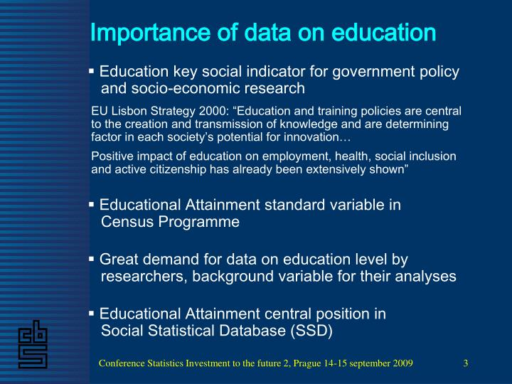 Importance of data on education
