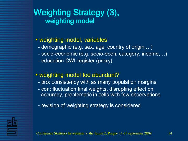 Weighting Strategy (3),