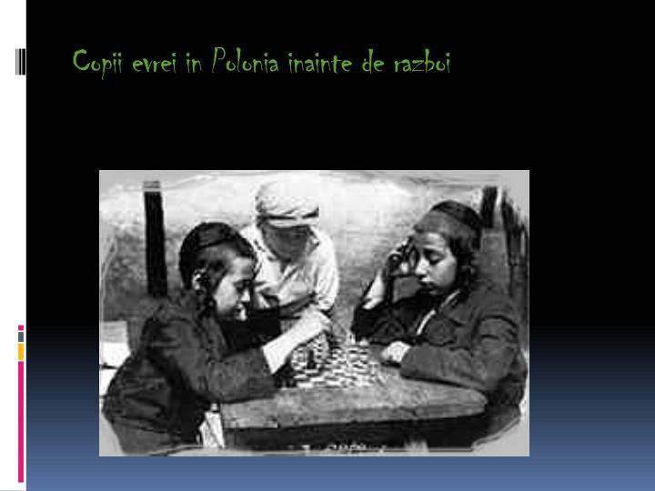 Copii evrei in Polonia inainte de razboi