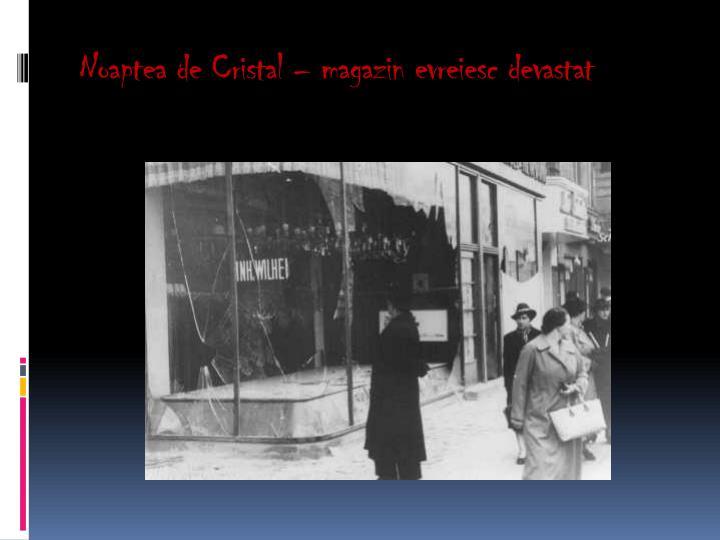Noaptea de Cristal – magazin evreiesc devastat
