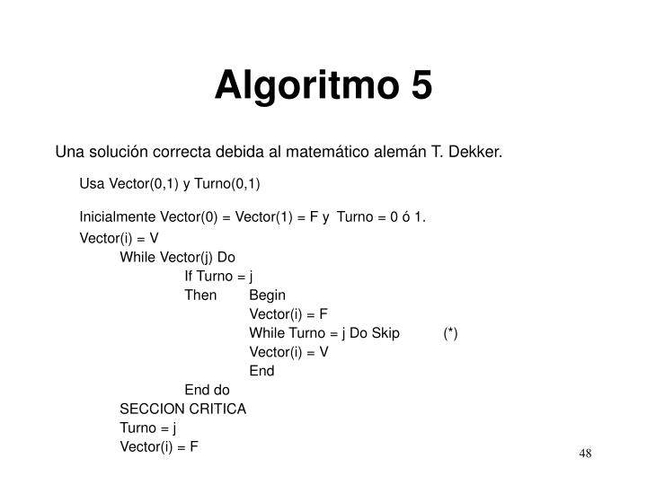 Algoritmo 5