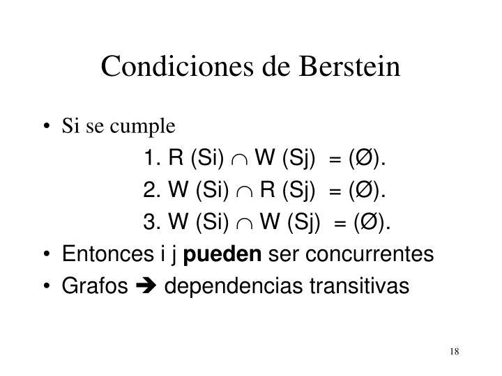 Condiciones de Berstein