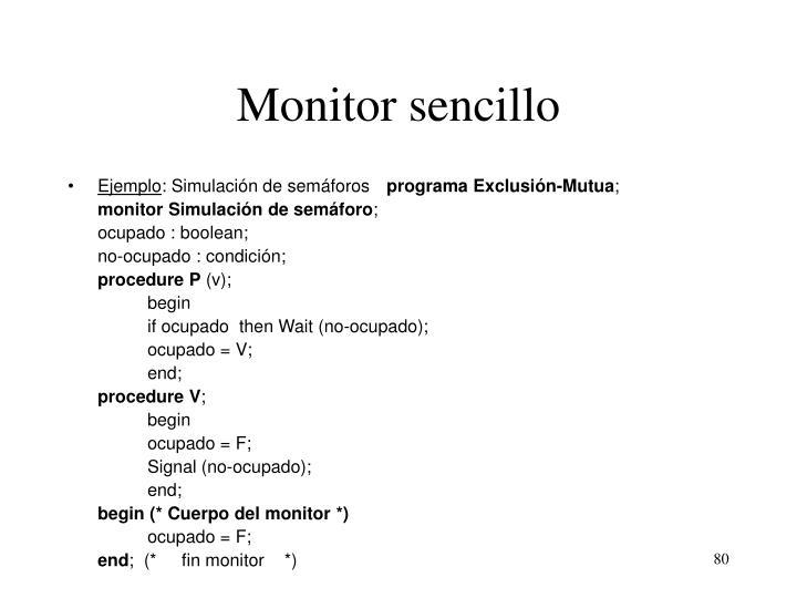 Monitor sencillo