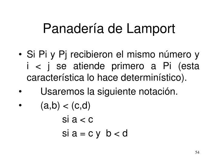 Panadería de Lamport