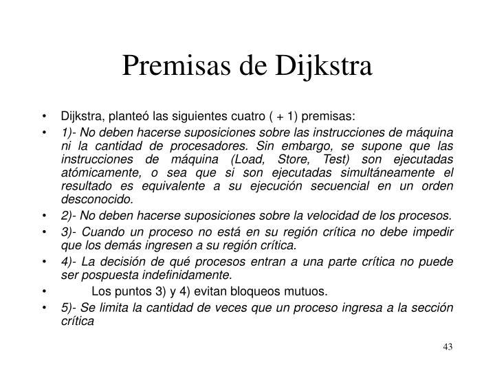 Premisas de Dijkstra