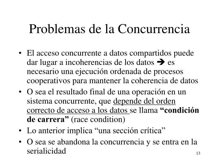Problemas de la Concurrencia