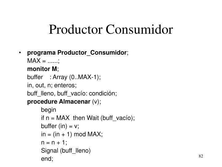 Productor Consumidor