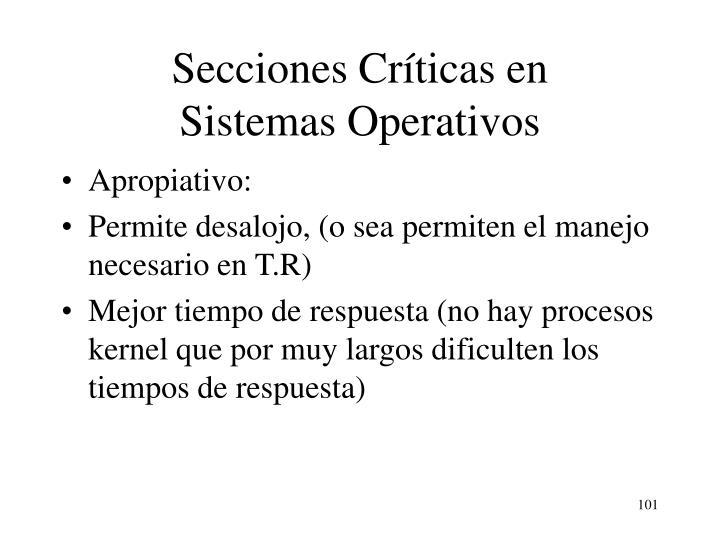 Secciones Críticas en