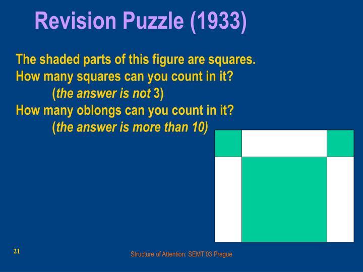 Revision Puzzle (1933)