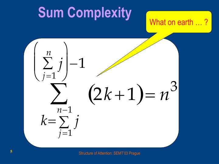 Sum Complexity