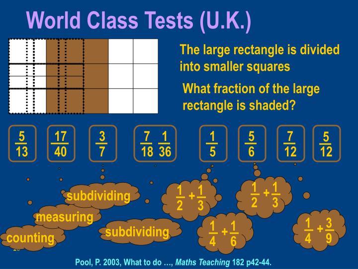 World Class Tests (U.K.)
