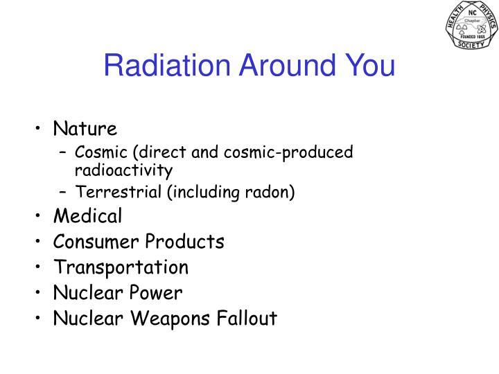 Radiation Around You