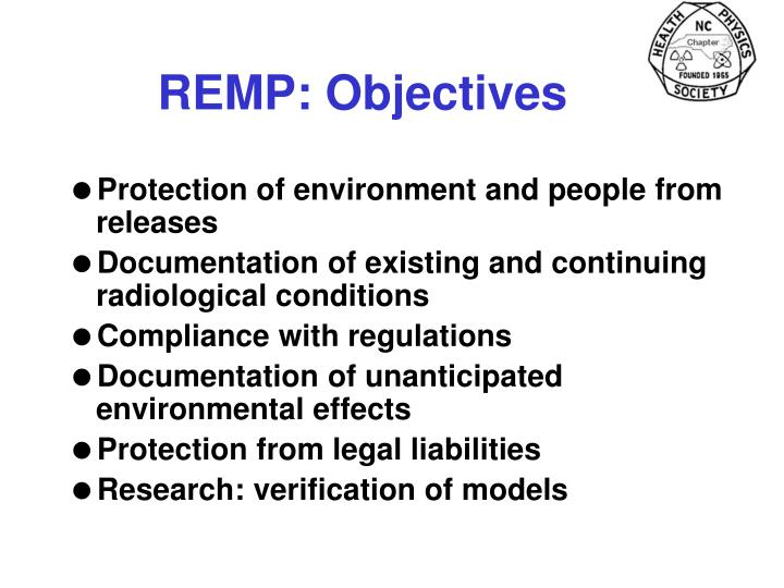 REMP: Objectives