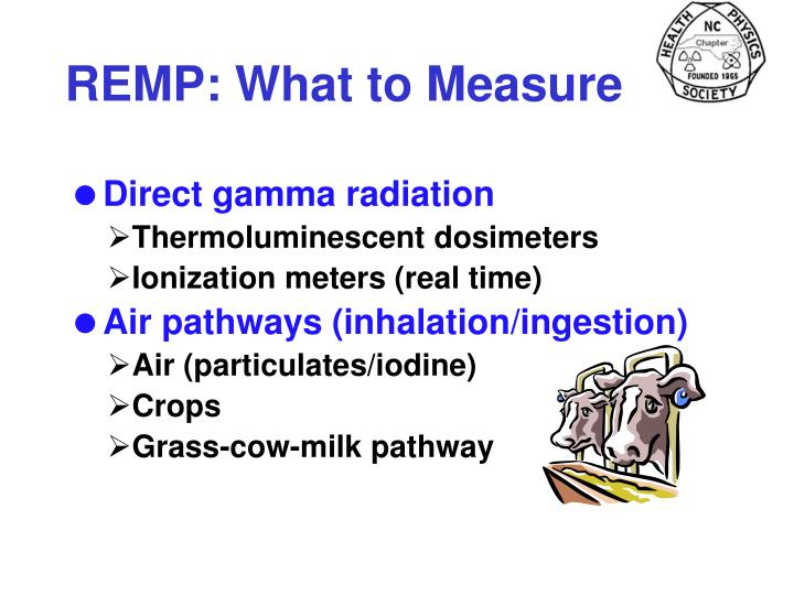 REMP: What to Measure
