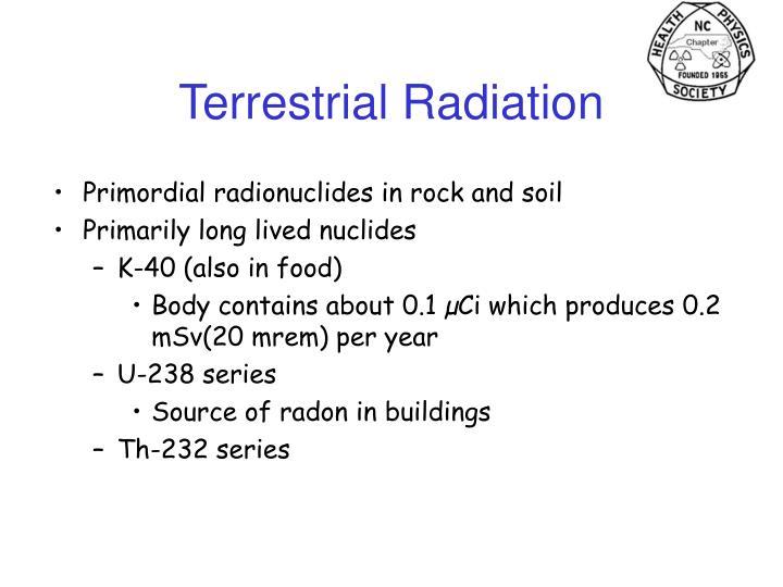Terrestrial Radiation