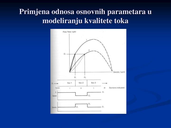 Primjena odnosa osnovnih parametara u modeliranju kvalitete toka
