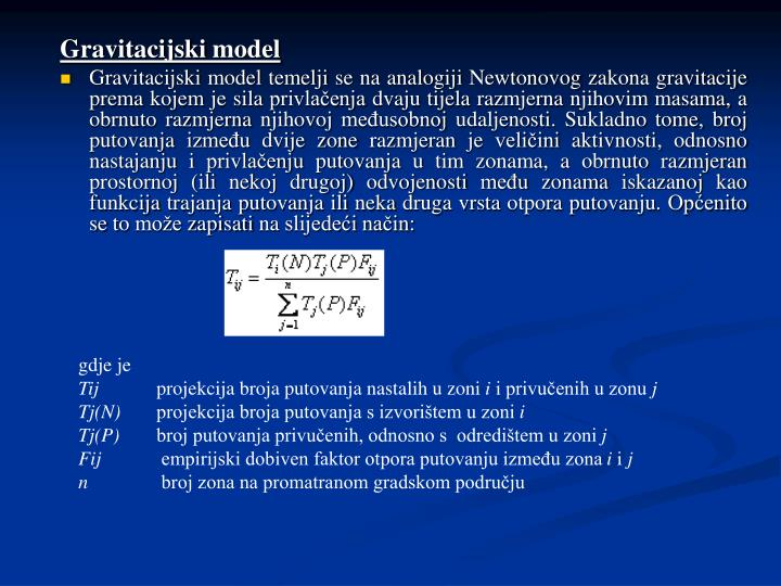 Gravitacijski model