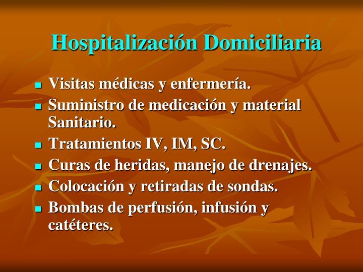 Hospitalización Domiciliaria