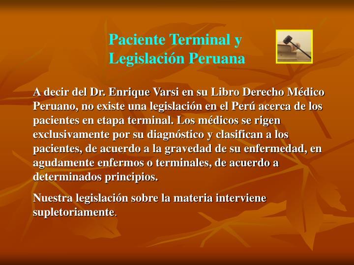 Paciente Terminal y