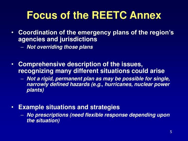 Focus of the REETC Annex