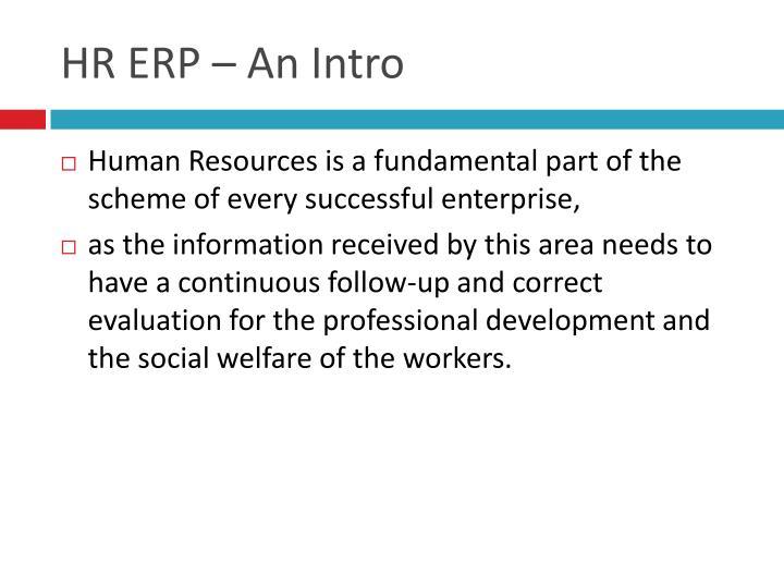 HR ERP – An Intro