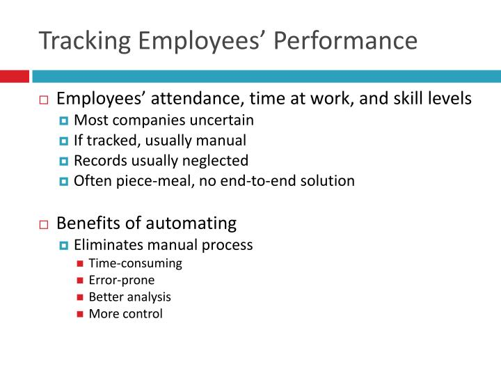 Tracking Employees' Performance