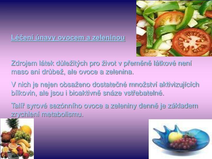 Léčení únavy ovocem a zeleninou