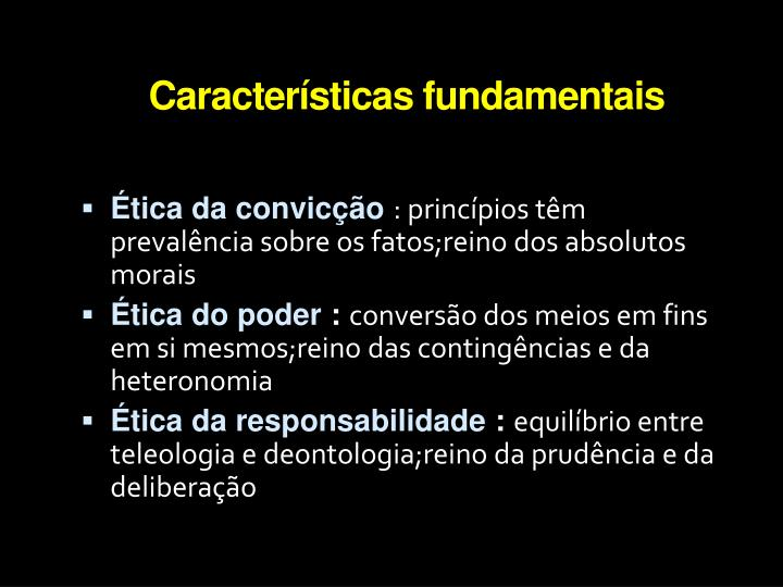 Caracter sticas fundamentais
