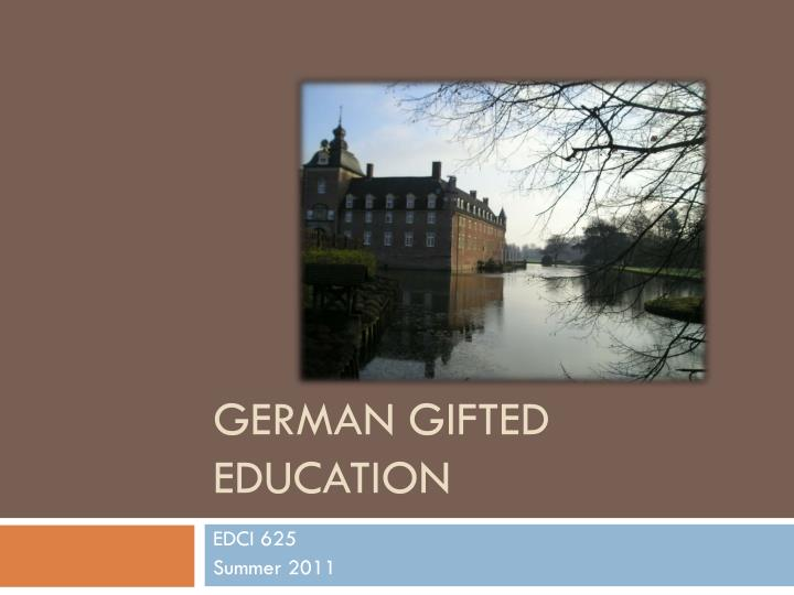German gifted education