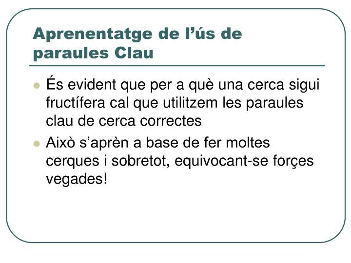Aprenentatge de l'ús de paraules Clau