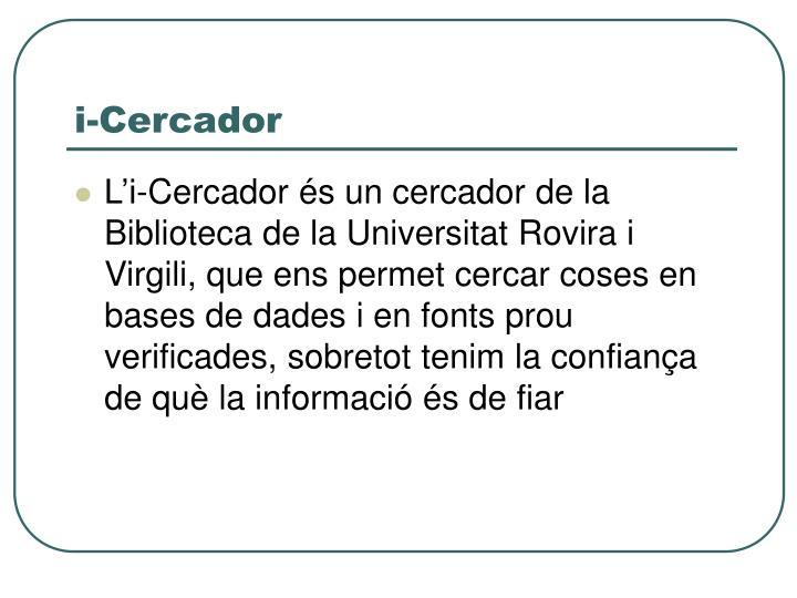 i-Cercador