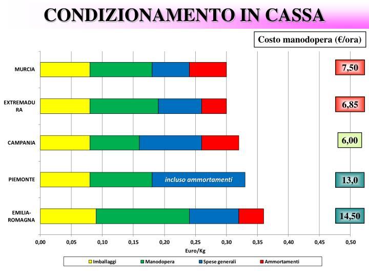 CONDIZIONAMENTO IN CASSA