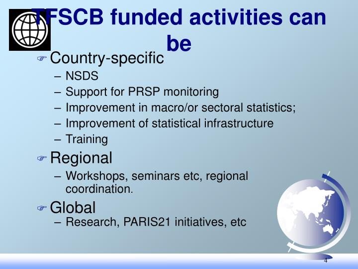 TFSCB funded activities can be