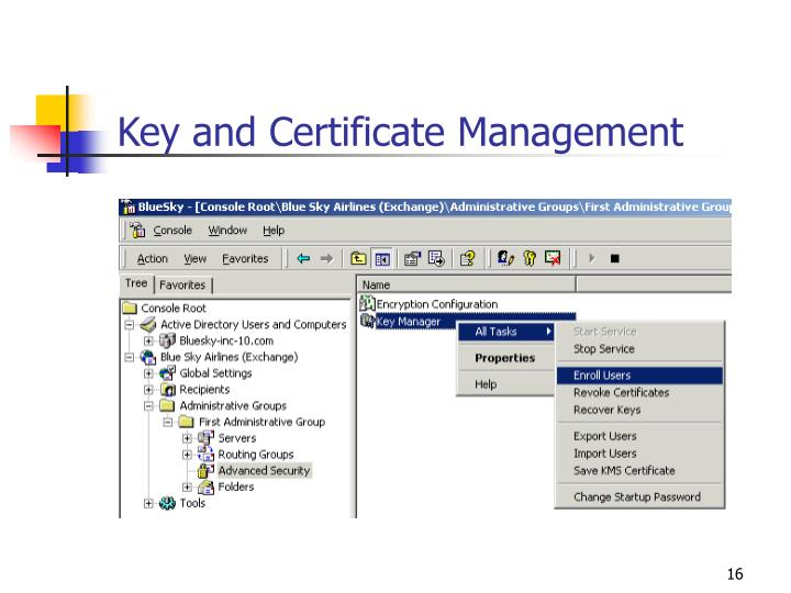 Key and Certificate Management