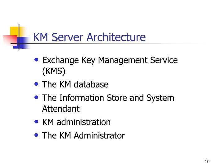 KM Server Architecture