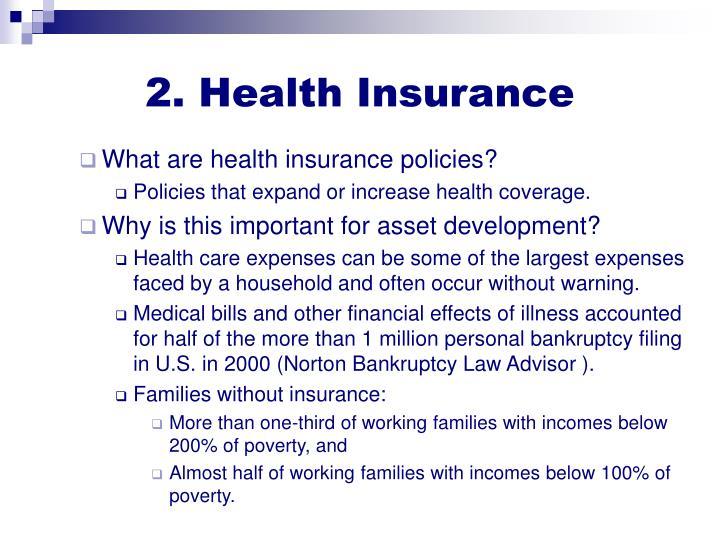 2. Health Insurance