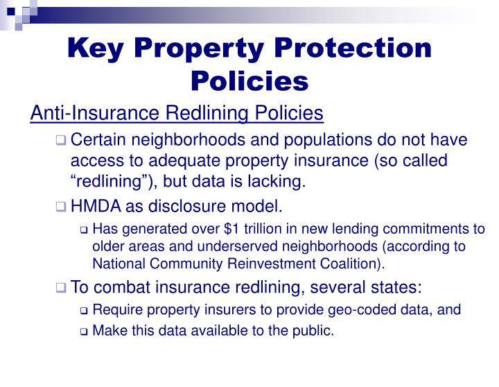 Key Property Protection Policies