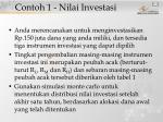 contoh 1 nilai investasi