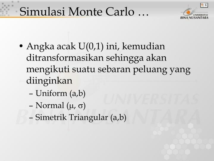 Simulasi Monte Carlo …