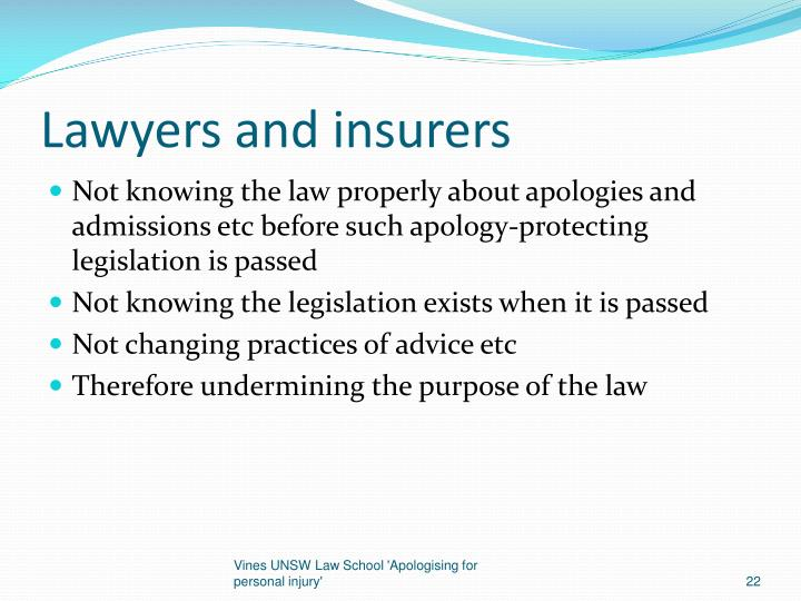 Lawyers and insurers