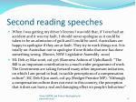 second reading speeches
