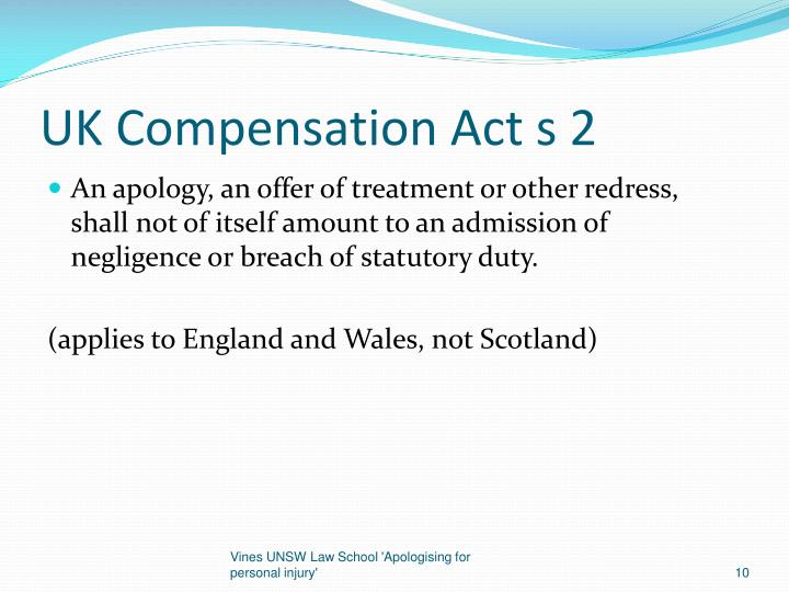 UK Compensation Act s 2