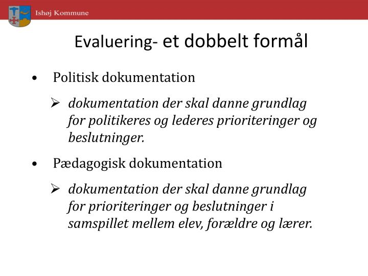 Evaluering-