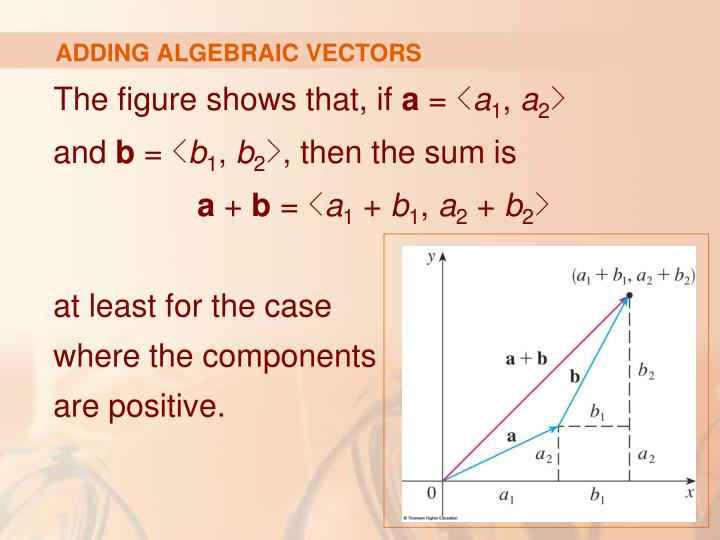 ADDING ALGEBRAIC VECTORS
