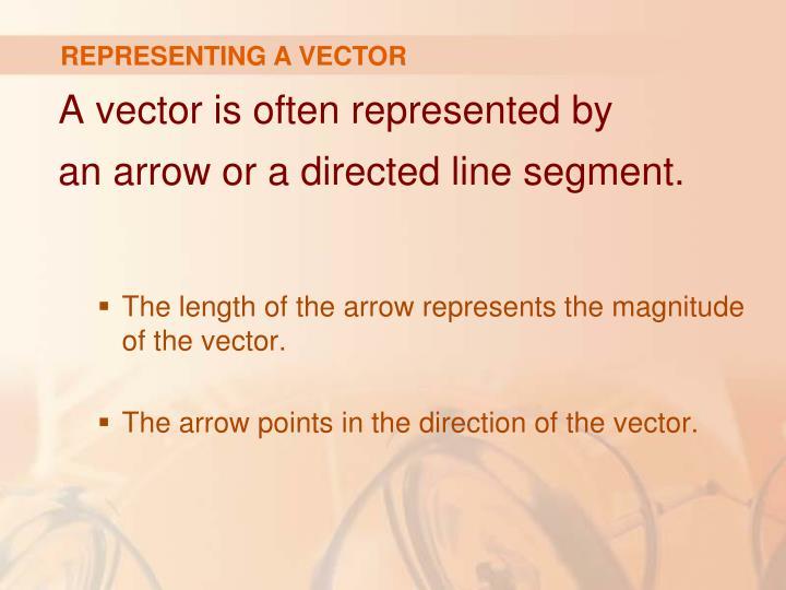 REPRESENTING A VECTOR