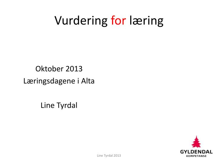 Vurdering for l ring
