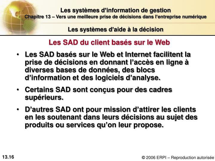 Les systèmes d'aide à la décision