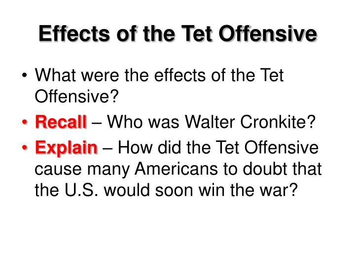 Effects of the Tet Offensive