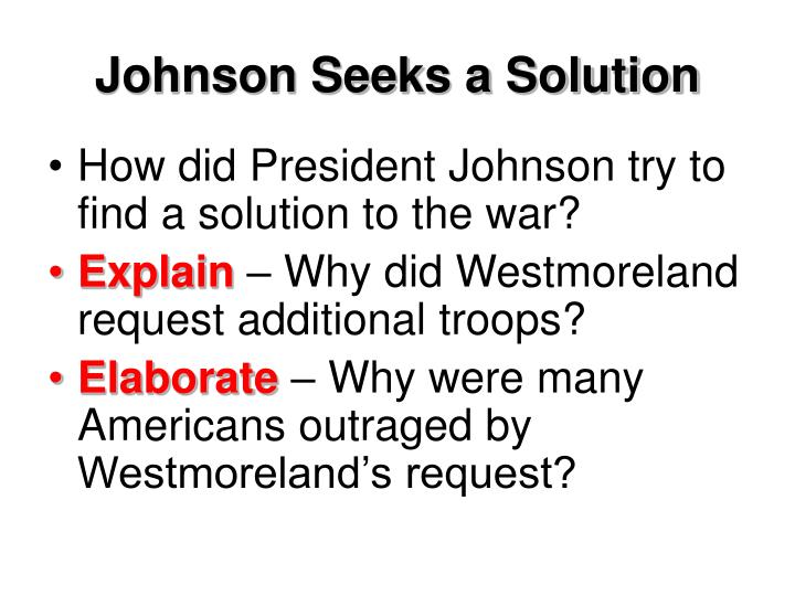 Johnson Seeks a Solution