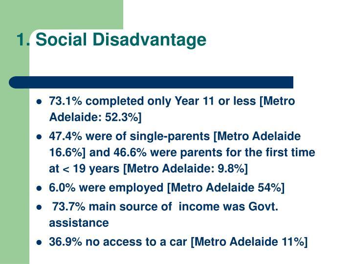 1. Social Disadvantage